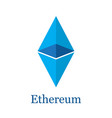 ethereum crypto currency vector image vector image