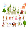 fairytale characters fantasy medieval magic vector image