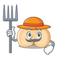 farmer chickpeas character cartoon style vector image vector image