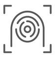 fingerprint scanner line icon security and finger vector image vector image