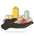 flat design paper houses - buildings set - city vector image vector image