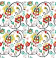 Floral seamless pattern in slavic folk style vector image vector image