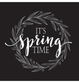 Floral Spring wreath on a blackboard vector image vector image