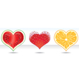 fruit heart icons set vector image vector image