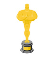 Golden statuette isolated Golden statue on white vector image vector image