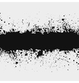 grunge ink splattered background element with a sp vector image vector image
