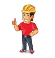Handsome Construction Worker Showing Thumb Up vector image vector image