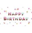 Happy birthday melt chocolate colored letters vector image vector image