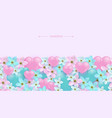 hearts and flowers seamless vector image vector image
