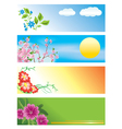 Horizontal banners with flowers vector | Price: 1 Credit (USD $1)