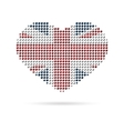 I love UK Creative heart flag vector image vector image