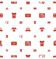 invitation icons pattern seamless white background vector image vector image