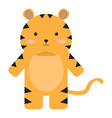 isolated stuffed tiger toy vector image vector image