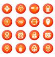 lock door types icons set red vector image