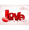 Love Valentine Background Design vector image vector image
