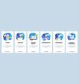mobile app onboarding screens health icons nurse vector image vector image
