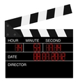 Open digital movie clapboard vector image