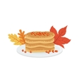 Pile Of Pancakes As A National Canadian Culture vector image vector image