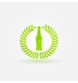 Polygonal Beer Bottle logo vector image vector image