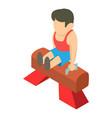 pommel horse gymnast icon isometric 3d style vector image