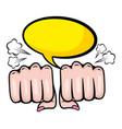 pop art women hand punch cartoon vector image