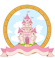 Princess castle design vector image vector image