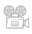 retro camera line icon vector image