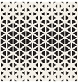 Seamless Black And White Triangle Halftone vector image vector image