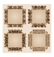Set of frames for design on beige vector image vector image