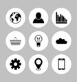set of icon graphics related to business vector image