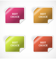 Set of stickers vector image