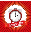 special offer clock banner design vector image