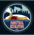 steamboat and industrial landscape vector image vector image