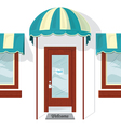 Store Front Door and Windows vector image vector image