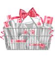 Supermarket Basket with Cosmetics vector image vector image