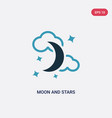 two color moon and stars icon from shapes concept vector image vector image