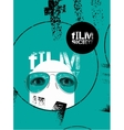 Typographic Grunge Design for Film Society vector image vector image