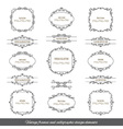 Vintage filigree frames and borders set vector image