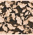 vintage garden seamless pattern branch coffee vector image