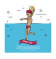 water sport concept vector image vector image