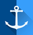 White anchor symbol vector image