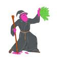 wizard casting spell grime art