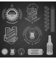 Brewing emblems and design elements vector image