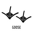 goose step icon simple style vector image