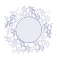 Spring background wreath with leaves Round banner vector image