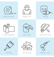 Repair home icons vector image