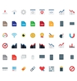 set flat icons vector image