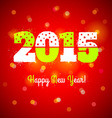 2015 and lights vector image