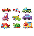 A collection of toys vector image vector image