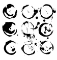 Abstract round prints strokes and splashes of ink vector image
